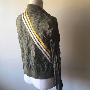 Free people track jacket 10 L